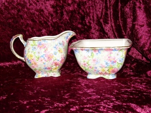 Royal Winton Marion Chintz Jug & Sugar Bowl