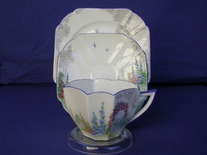 Shelley Archway of Roses (11606) Cup/Saucer/Plate