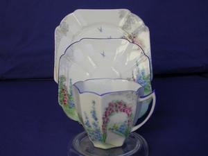 Shelley Archway of Roses Cup/Saucer/Plate