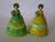 Carlton Ware Green/Yellow & Yellow/Green Crinoline Lady Napkin R