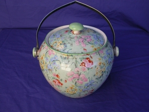 Shelley Melody Chintz Biscuit Barrel