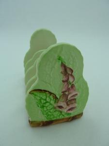 Carlton Ware Green Foxglove Toast Rack