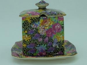 Royal Winton Hazel Chintz Preserve Pot & Underplate