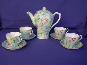 Shelley Melody Chintz Coffee Set