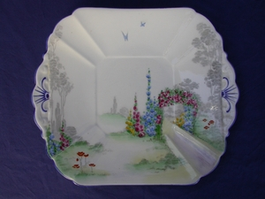 Shelley Archway of Roses (11606) Cake Plate