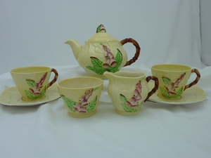 Carlton Ware Yellow Foxglove Tea Set