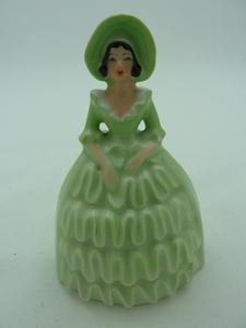Carlton Ware Green/White Crinoline Lady Bell