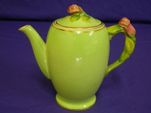 Royal Winton Green Rosebud Coffee Pot