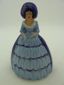 Carlton Ware Blue/Purple Crinoline Lady Napkin Ring
