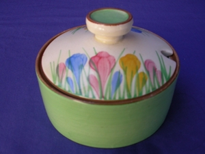 Clarice Cliff Spring Crocus Sugar Bowl