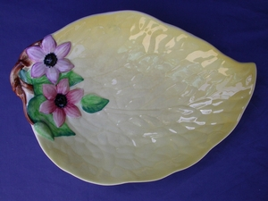Carlton Ware Yellow Clematis Supper Tray