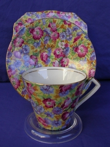Royal Winton Royalty Chintz Cup, Saucer & Plate