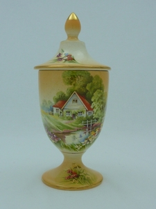 Royal Winton Fawn Red Roof Urn
