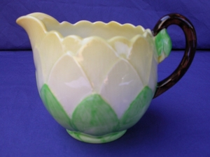 Carlton Ware Green Water Lily Creamer