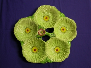 Carlton Ware Green Poppy 5 Way Tray
