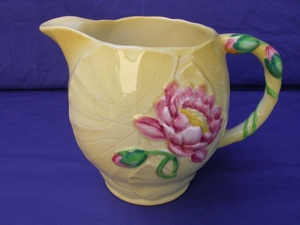 Carlton Ware Yellow Water Lily Jug