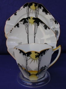Shelley Sunrise & Tall Trees (11678) Cup/Saucer/Plate