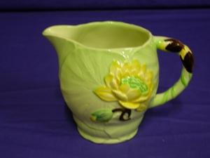 Carlton Ware Green Water Lily Jug