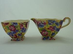 Royal Winton Royalty Chintz Creamer & Sugar Bowl