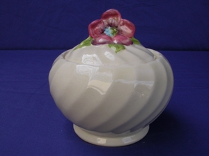 Clarice Cliff Floral Fluted Preserve Pot