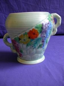 Carlton Ware Green Rock Garden Vase