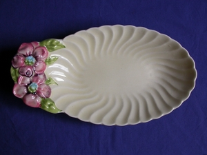 Clarice Cliff Floral Fluted Plate