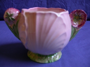 Carlton Ware Pink Buttercup Sugar Bowl