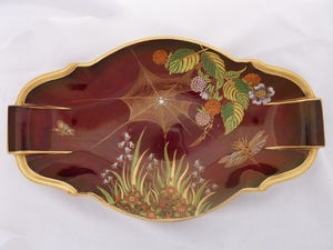 Carlton Ware Rouge Royale Spiders Web Tray