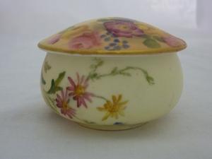 Royal Worcester Floral Trinket Pot