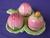 Carlton Ware Pink Buttercup Cruet Set