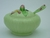 Carlton Ware Green Apple Blossom Preserve Pot & Spoon