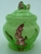 Carlton Ware Green Foxglove Preserve Pot & Spoon