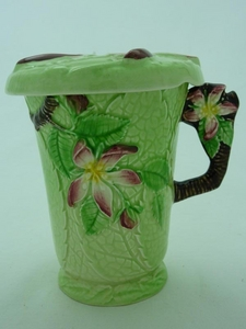 Carlton Ware Green Apple Blossom Chocolate Mug & Lid
