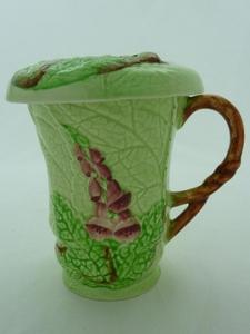 Carlton Ware Green Foxglove Chocolate Mug & Lid