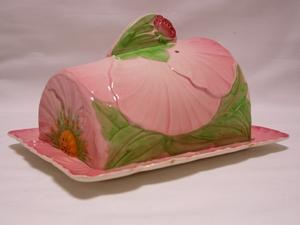 Carlton Ware Pink Buttercup Cheesekeep