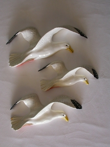 Beswick Seagull Wall Plaques (658 - Set of 3)