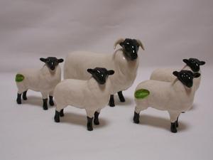 Beswick Black-Faced Sheep & Lambs